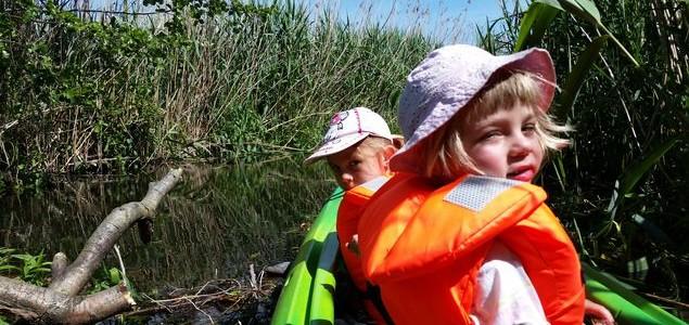 Kajaki z dziećmi – Paklica