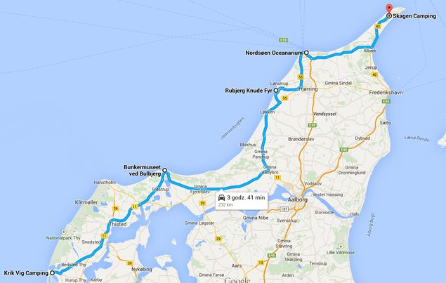 Jutlandia Północna - Trasa z Agger do Skagen
