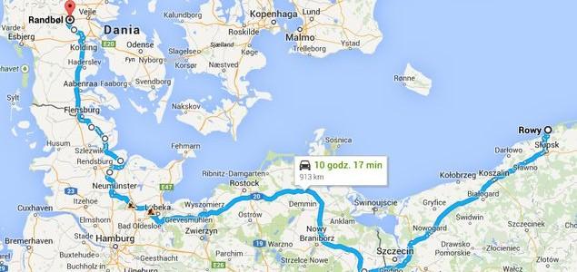 Trasa z Polski do Danii