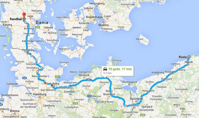 z Polski do Danii